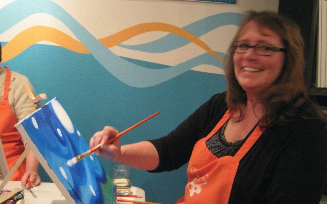 """Our ladies know how to """"Paint and Sip!"""""""